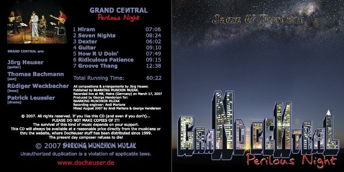 OUT NOW!!!: GRAND CENTRAL - PERILOUS NIGHT - live